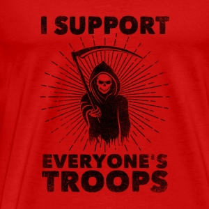 I Support Everyone's Troops (Political /Statement) Topper - Premium T-skjorte for menn