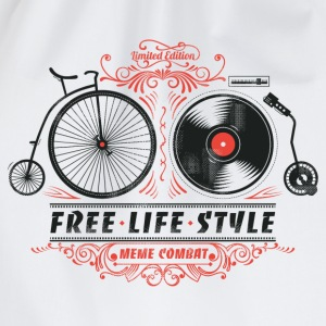 Heather grey Free-Life-Style Cycling T-Shirt - Drawstring Bag