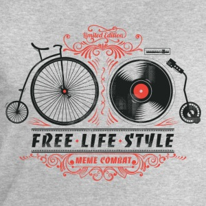 Heather grey Free-Life-Style Cycling T-Shirt - Men's Sweatshirt by Stanley & Stella