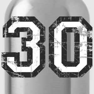 Number 30 Thirty 30th Birthday Design T-Shirts - Water Bottle