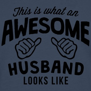 this is what an awesome husband looks li - Men's Premium Longsleeve Shirt