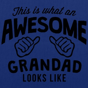 this is what an awesome grandad looks li - Tote Bag