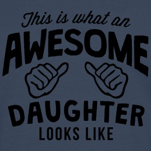 this is what an awesome daughter looks l - Men's Premium Longsleeve Shirt