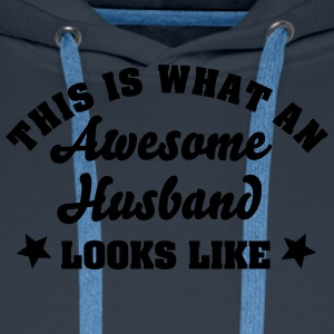 this is what an awesome husband looks li - Men's Premium Hoodie