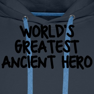 worlds greatest ancient hero - Men's Premium Hoodie