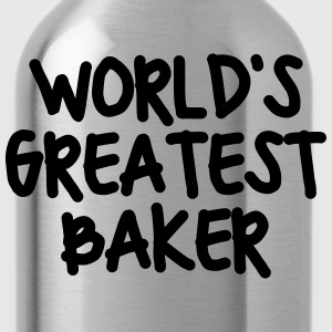 worlds greatest baker - Water Bottle