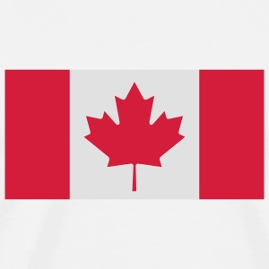 National Flag of Canada Skjorter med lange armer - Premium T-skjorte for menn