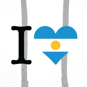 I love Argentina Long Sleeve Shirts - Men's Premium Hoodie