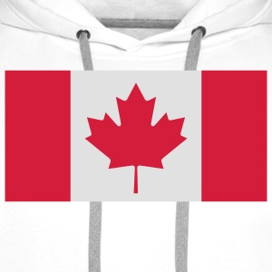 National Flag of Canada T-Shirts - Men's Premium Hoodie