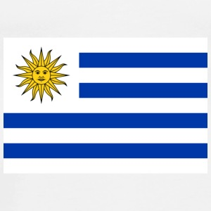 Nationale flag Uruguay Accessories - Herre premium T-shirt