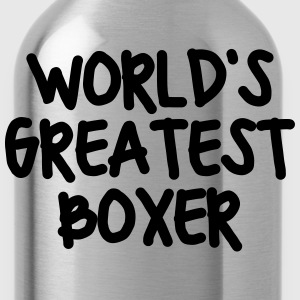 worlds greatest boxer - Water Bottle