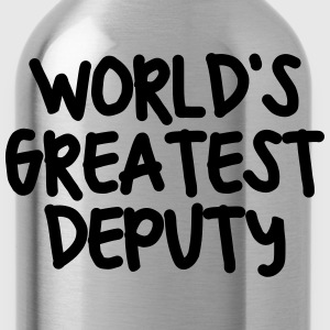 worlds greatest deputy - Water Bottle