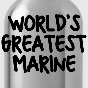 worlds greatest marine - Water Bottle