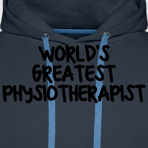 worlds greatest physiotherapist - Men's Premium Hoodie