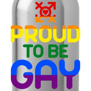 Proud to be Gay (bunt) T-Shirts - Trinkflasche