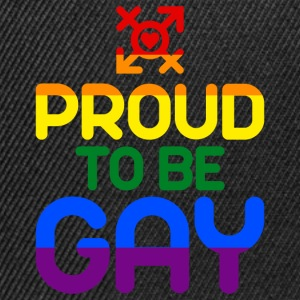 Proud to be Gay (bunt) T-Shirts - Snapback Cap