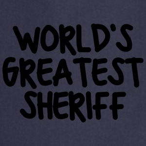 worlds greatest sheriff - Cooking Apron