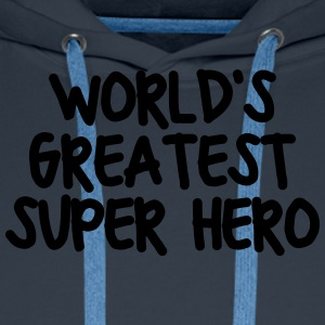 worlds greatest super hero - Men's Premium Hoodie