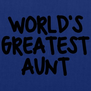 worlds greatest aunt - Tote Bag