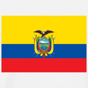 National Flag of Ecuador Babybody - Premium T-skjorte for menn