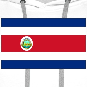 Drapeau national du Costa Rica Tee shirts - Sweat-shirt à capuche Premium pour hommes