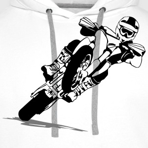 Supermoto Racing Tee shirts - Sweat-shirt à capuche Premium pour hommes