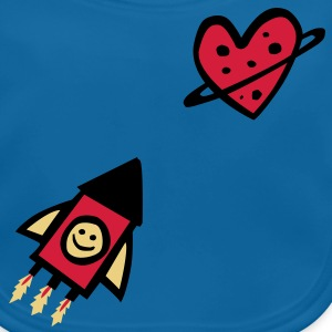 LOVEshirt Rocket & Planet Love - Baby Bio-Lätzchen