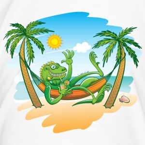 Lazy Iguana Summer on the Beach Mugs & Drinkware - Men's Premium T-Shirt