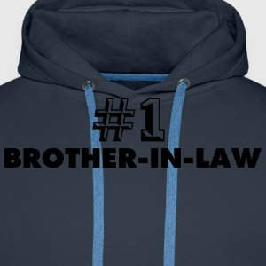 number one brotherinlaw - Men's Premium Hoodie
