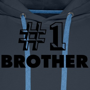 number one brother - Men's Premium Hoodie