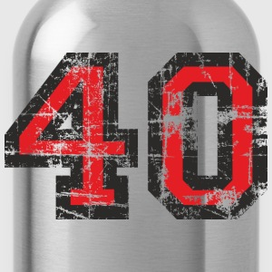 Number 40 Forty 40th Birthday Design (EU) T-Shirts - Water Bottle