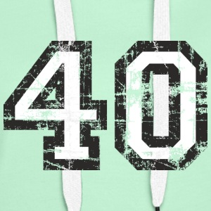 Number 40 Forty 40th Birthday Design (EU) T-Shirts - Women's Premium Hoodie