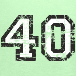 Number 40 Forty 40th Birthday Design (EU) T-Shirts - Women's Tank Top by Bella