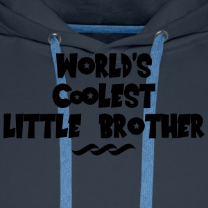 worlds coolest little brother - Men's Premium Hoodie
