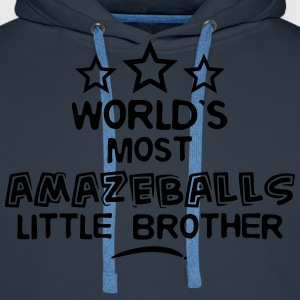 worlds most amazeballs little brother - Men's Premium Hoodie