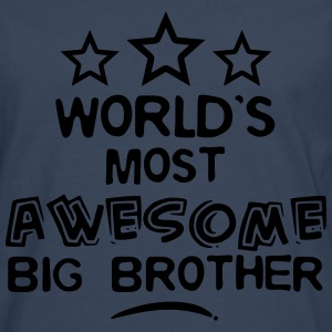 worlds most awesome big brother - Men's Premium Longsleeve Shirt