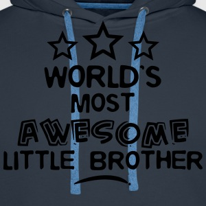 worlds most awesome little brother - Men's Premium Hoodie