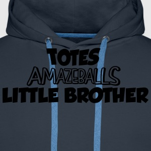 totes amazeballs little brother - Men's Premium Hoodie