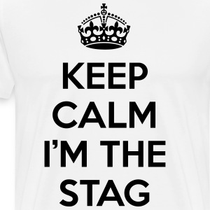 Keep Calm Stag  Forklær - Premium T-skjorte for menn