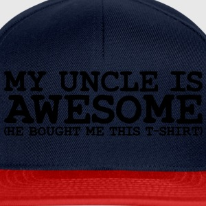 my uncle is awesome - Snapback Cap
