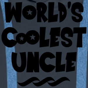 worlds coolest uncle - Men's Premium Hoodie