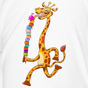 Cool Giraffe Eating Ice Cream Mugs & Drinkware - Men's Premium T-Shirt