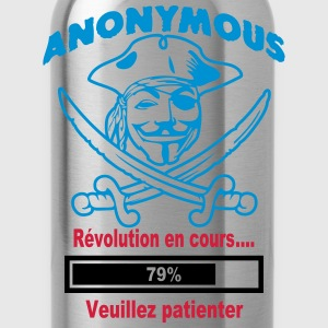 anonymous révolution en cours 79% Tee shirts - Gourde