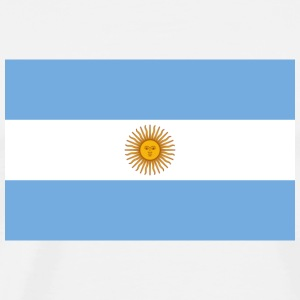 National Flag of Argentina Long Sleeve Shirts - Men's Premium T-Shirt