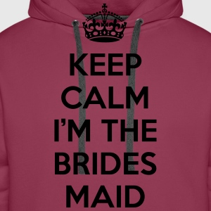 Keep Calm Bridesmaid  Tops - Men's Premium Hoodie