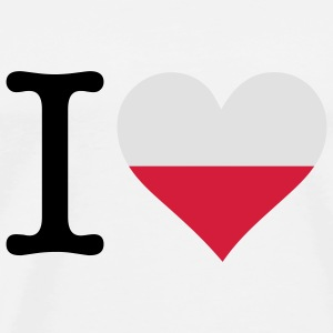 I Love Poland Shirts - Men's Premium T-Shirt