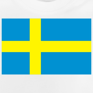 Nationell svensk flagg T-shirts - Baby-T-shirt