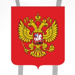 National Coat of Arms i Russland T-skjorter - Premium hettegenser for menn