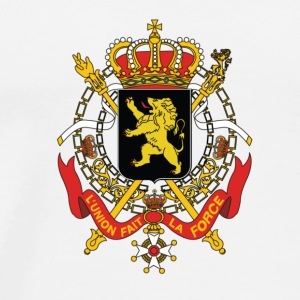 National Coat of Arms i Belgia Langarmede T-skjorter - Premium T-skjorte for menn