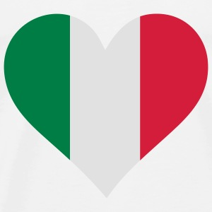 A Heart for Italy Tops - Men's Premium T-Shirt